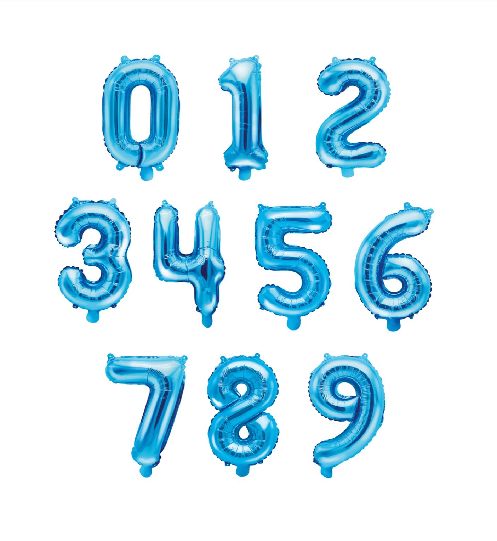 globos numero azul