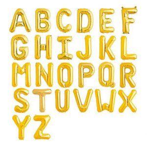 globos letras oro