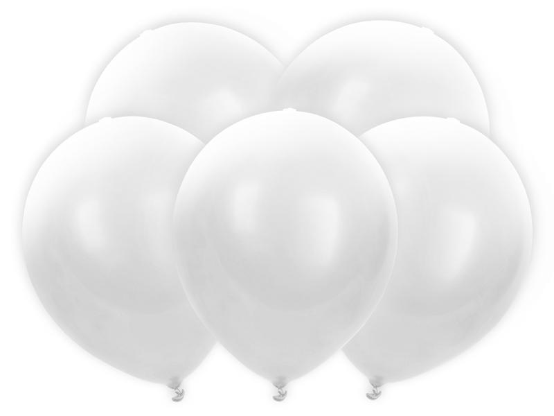 globos blanco látex