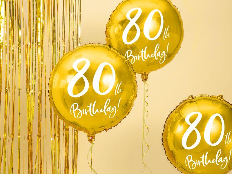 globo aniversario 80