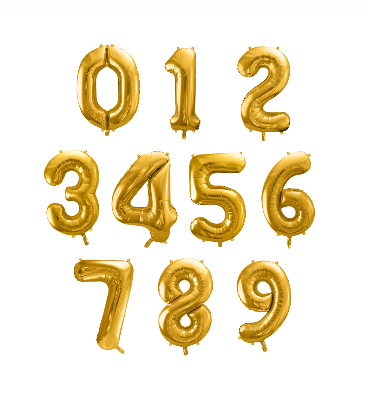 globos numero oro