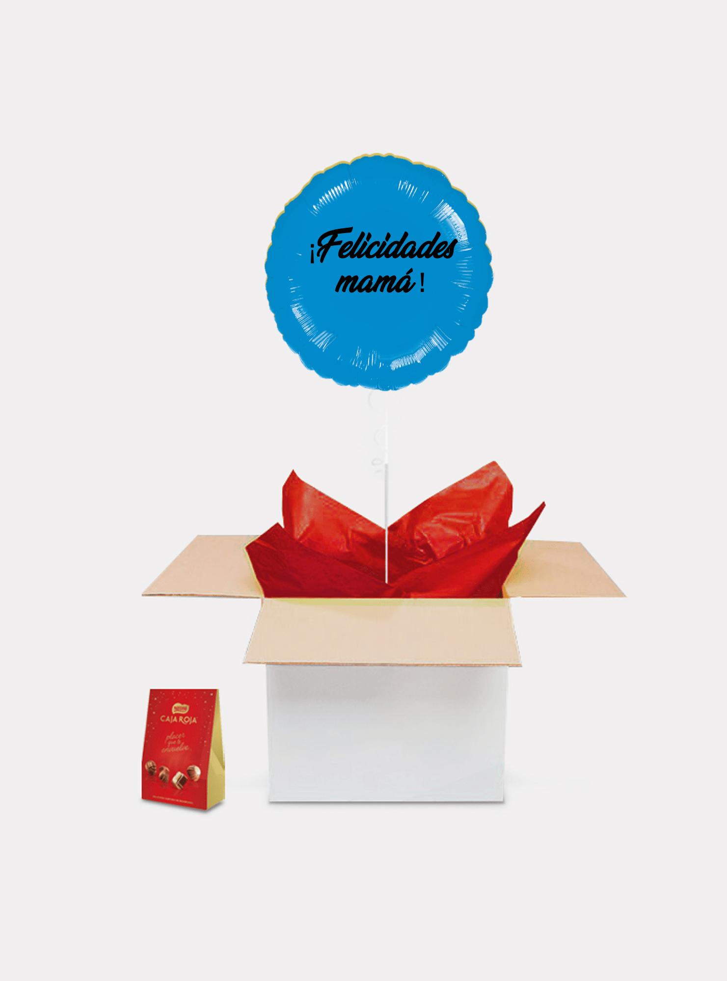 caja sorpresa madre azul