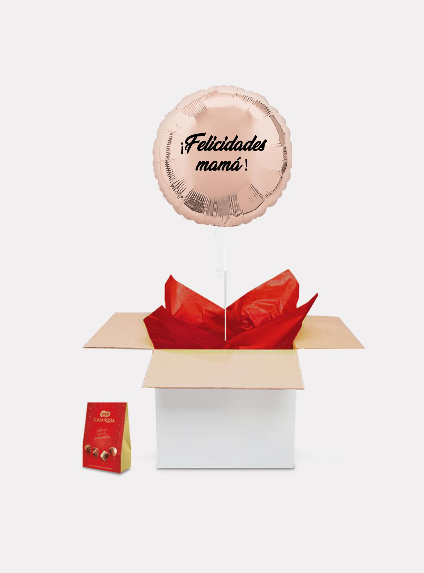 caja sorpresa madre oro rosa