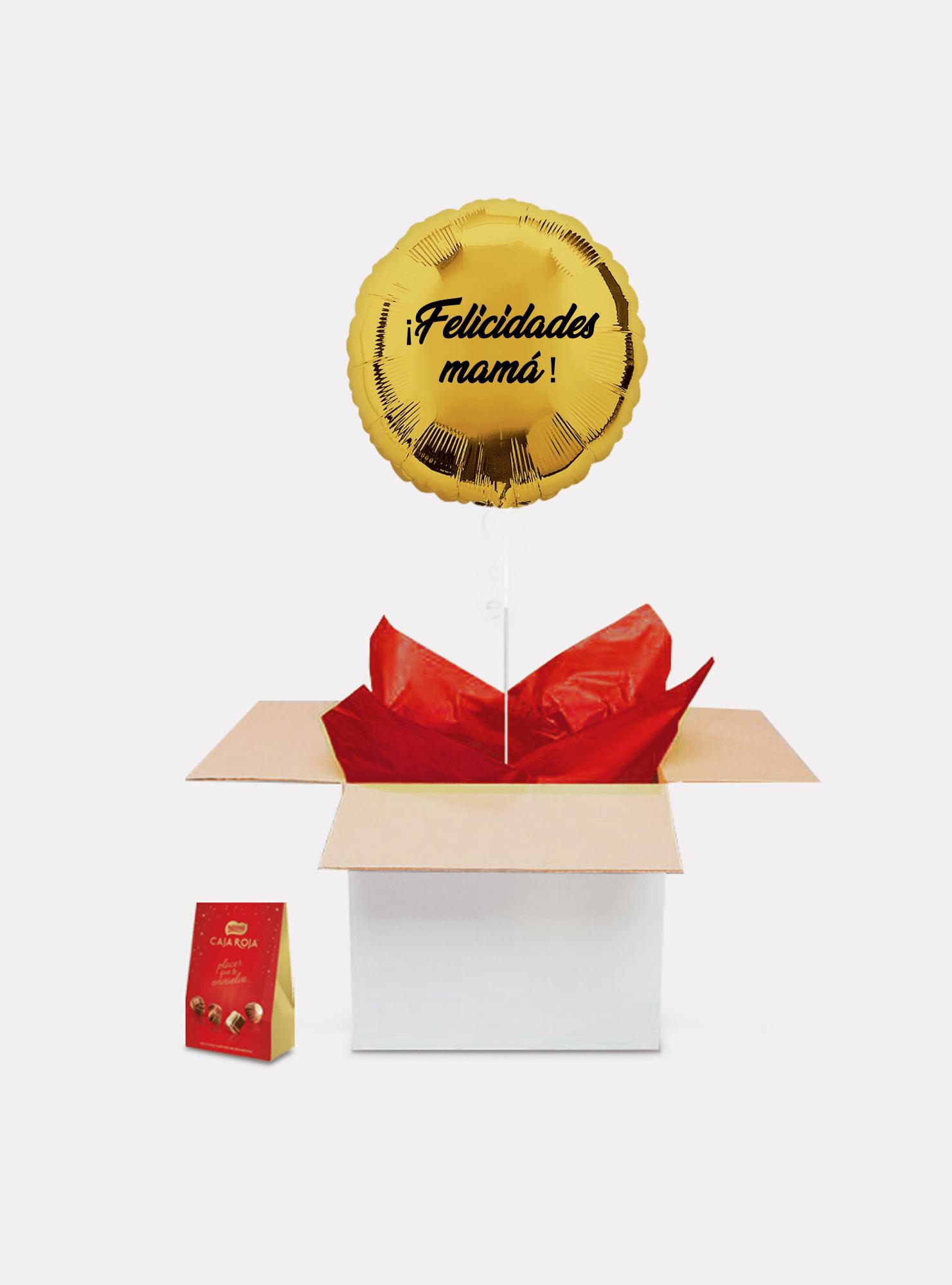 caja sorpresa madre oro