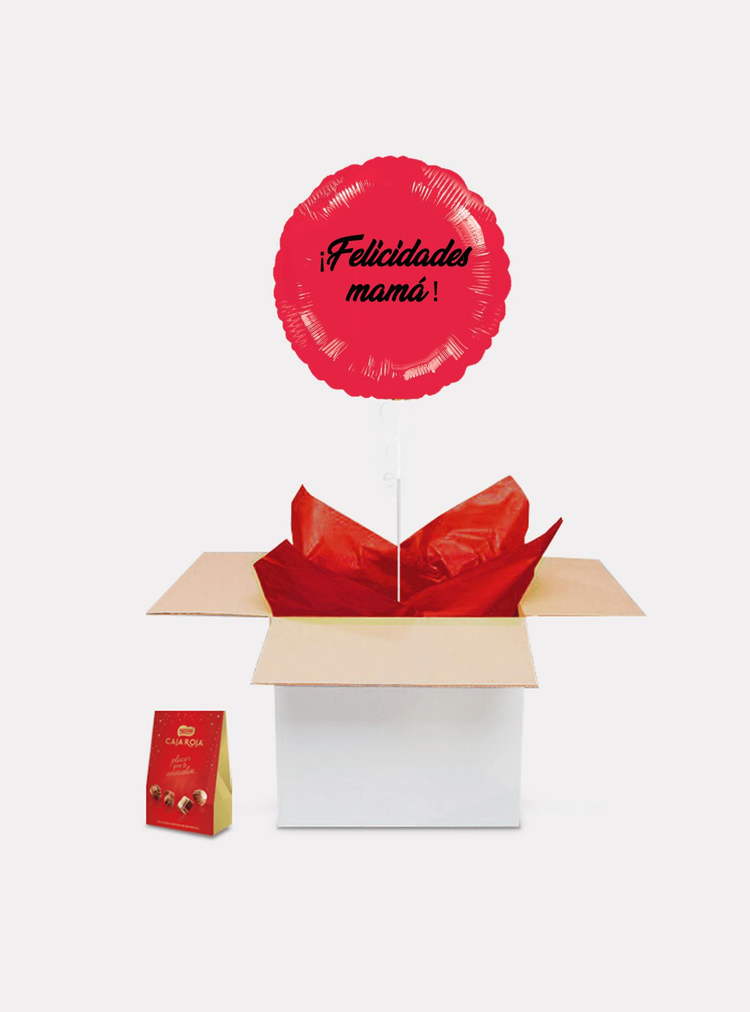 caja sorpresa madre roja