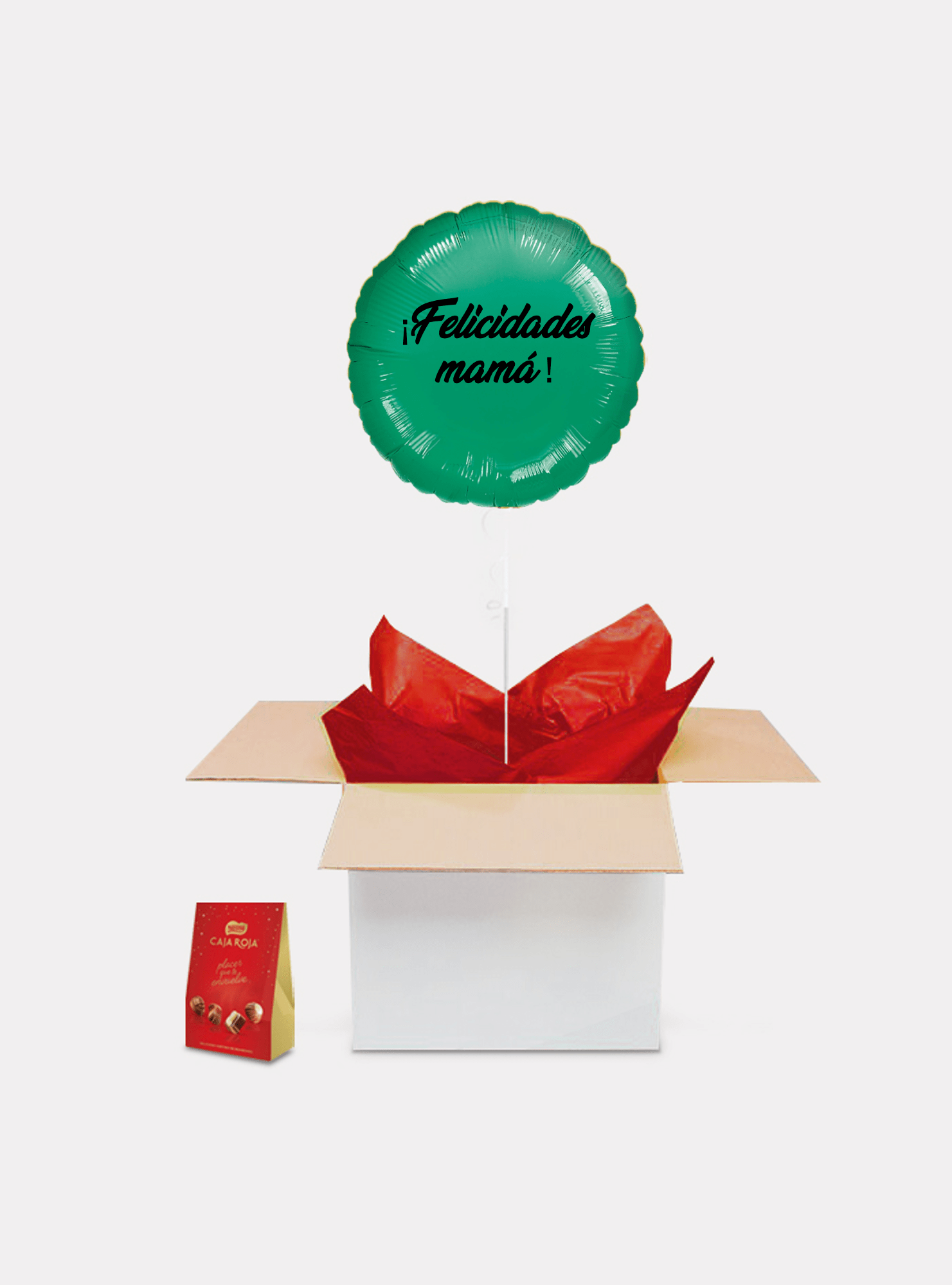 caja sorpresa madre verde